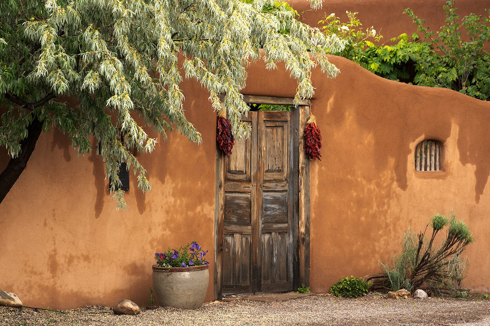 Historic building entrance in New Mexico