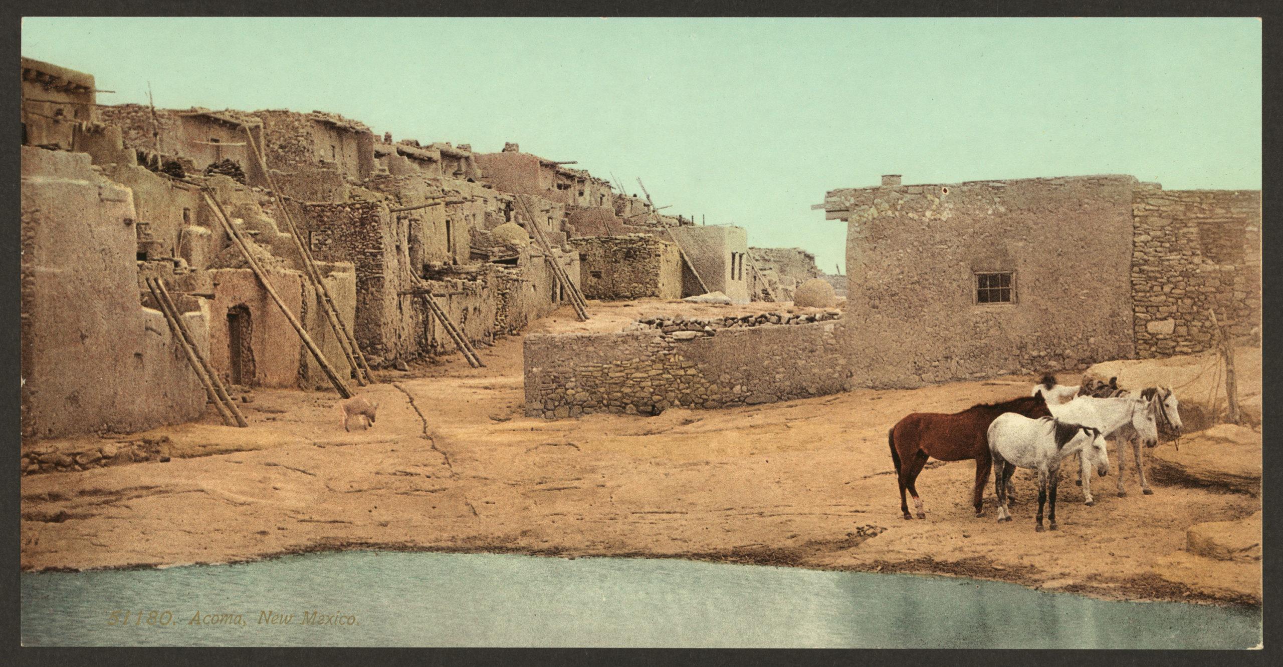Acoma Pueblo. 1898-1905. Library of Congress